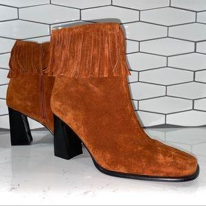 Pazzo Fringe Suede High Heel Mid-Calf Boots